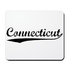 Vintage Connecticut (Black) Mousepad