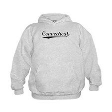 Vintage Connecticut (Black) Hoodie