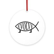Evolution Fish Ornament (Round)