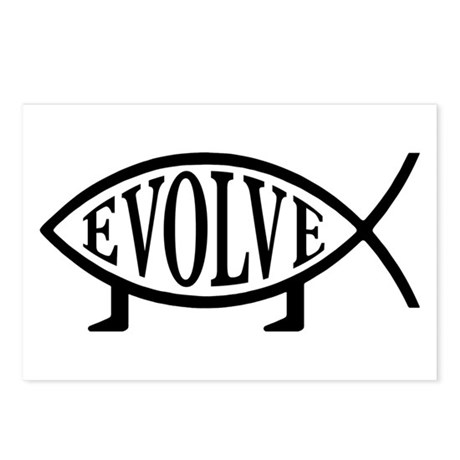 Evolution Fish Postcards (Package of 8)