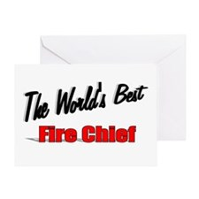 """The World's Best Fire Chief"" Greeting Card"
