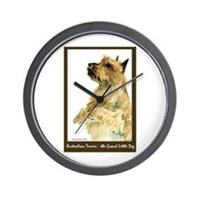 Red Australian Terrier Begging Wall Clock