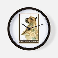 Red Australian Terrier Begging Wall Clock