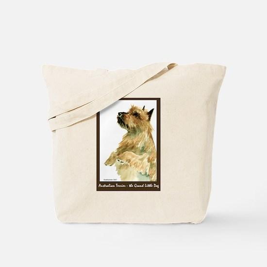Red Australian Terrier Begging Tote Bag