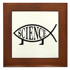 Science Fish Framed Tile