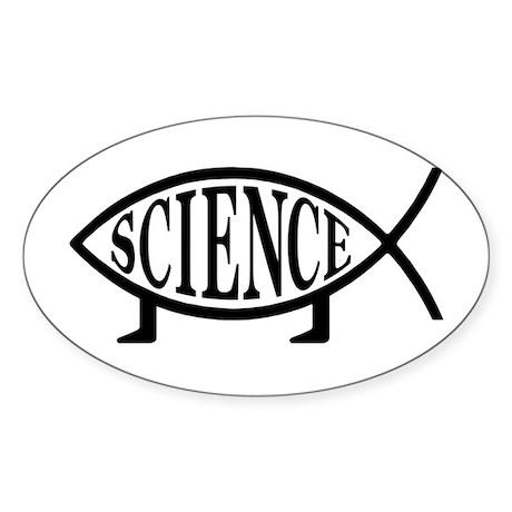 Science Fish Oval Sticker