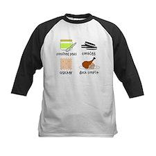 Snacks for Smart Babies Kids Baseball Jersey