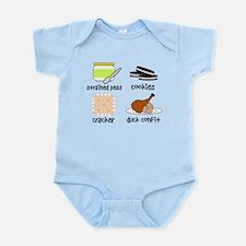 Snacks for Smart Babies Infant Bodysuit