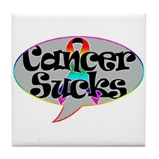 Cancer Sucks Tile Coaster
