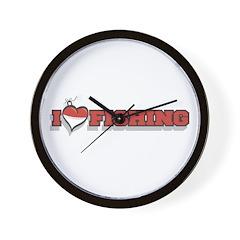 I Love Fishing Wall Clock