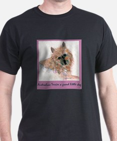 Red Australian Terrier Face T-Shirt