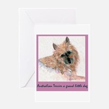 Red Australian Terrier Face Greeting Card