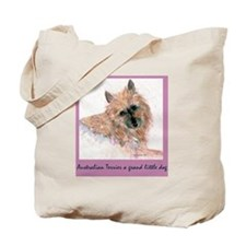 Red Australian Terrier Face Tote Bag