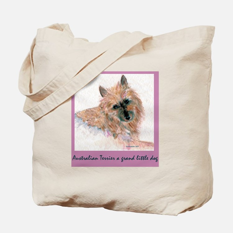 Red Australian Terrier Face Tote Bag