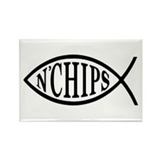 Fish N' Chips Rectangle Magnet