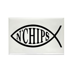 Fish N' Chips Rectangle Magnet (10 pack)