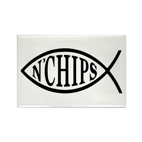 Fish N' Chips Rectangle Magnet (100 pack)