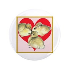 """I Love Ducklings! 3.5"""" Button"""