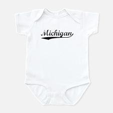 Vintage Michigan (Black) Infant Bodysuit