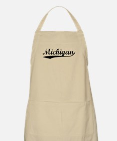 Vintage Michigan (Black) BBQ Apron