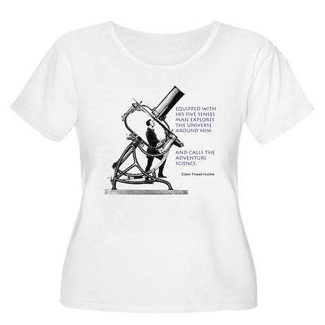 Hubble Quote Women's Plus Size Scoop Neck T-Shirt