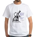 Hubble Quote White T-Shirt