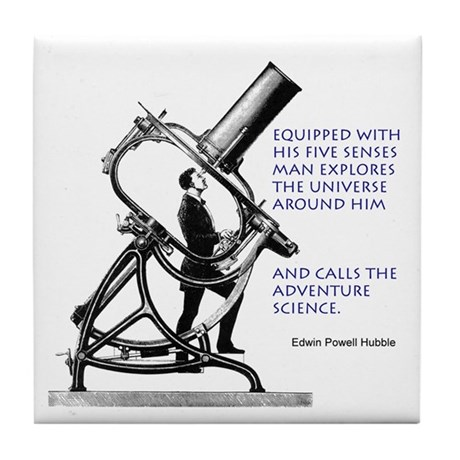 Hubble Quote Tile Coaster