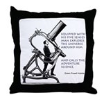 Hubble Quote Throw Pillow
