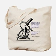 Hubble Quote Tote Bag