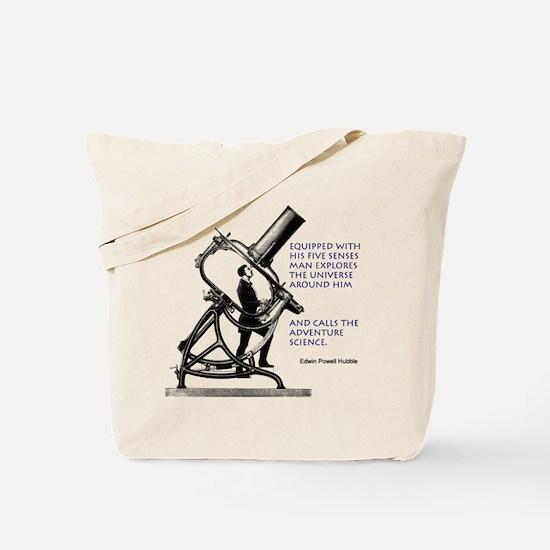 Hubble Quote Tote Bag