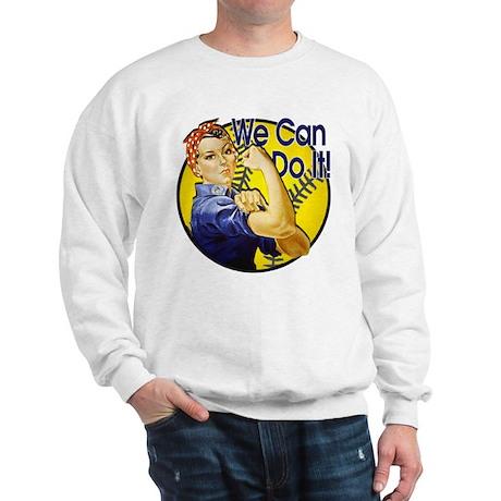 Rosie the Riveter Softball shirt Sweatshirt