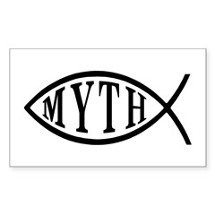 Myth Fish Rectangle Decal
