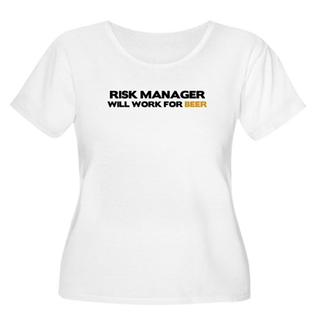 Risk Manager Women's Plus Size Scoop Neck T-Shirt