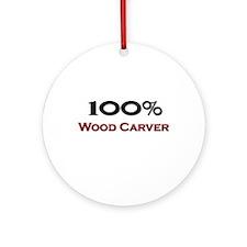 100 Percent Wood Carver Ornament (Round)