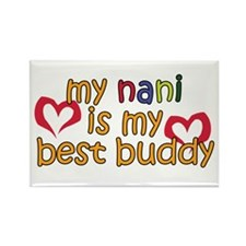 Nani is My Best Buddy Rectangle Magnet
