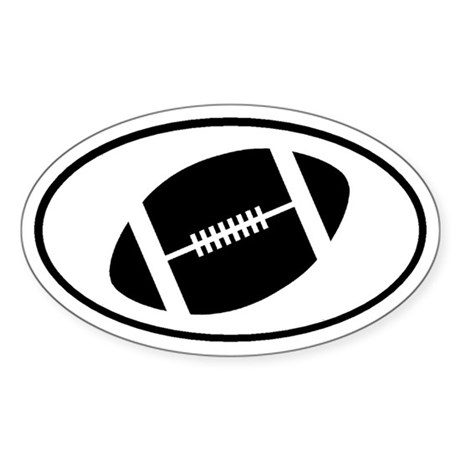 Football Gridiron Oval Sticker