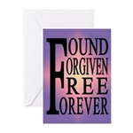 FOUND, FORGIVEN... Greeting Cards (Pk of 10)