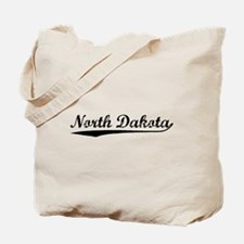 Vintage North Dakota (Black) Tote Bag
