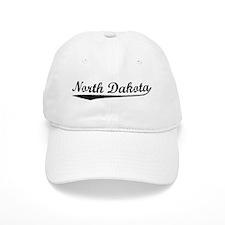 Vintage North Dakota (Black) Baseball Cap