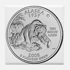 2008 Alaska State Quarter Tile Coaster