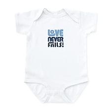 Love Never Fails Infant Bodysuit