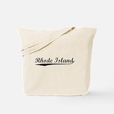 Vintage Rhode Island (Black) Tote Bag