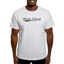 Vintage Rhode Island (Black) T-Shirt