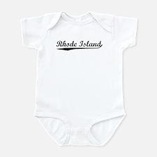 Vintage Rhode Island (Black) Infant Bodysuit