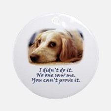 Not Me Ornament (Round)