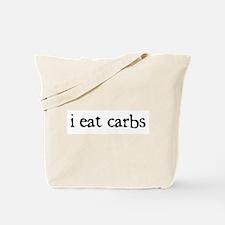 i eat carbs Tote Bag