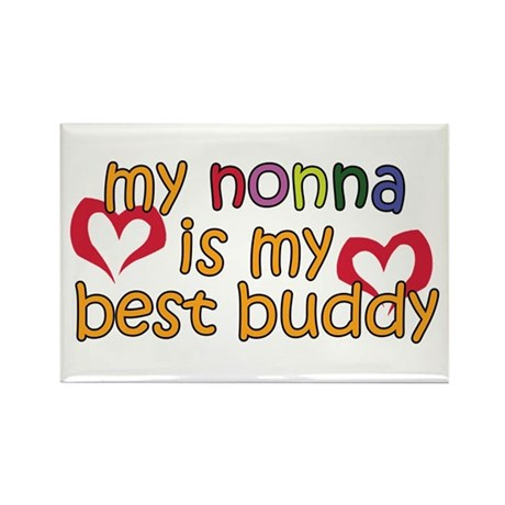 Nonna is My Best Buddy Rectangle Magnet