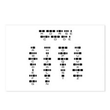 Morse Code -  Postcards (Package of 8)