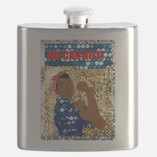 african rosie the riveter Flask