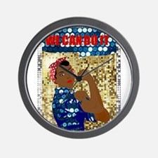 african rosie the riveter Wall Clock